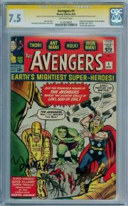 Avengers #1 1963 CGC 7.5 Signature Series  Signed Stan Lee Dick Ayer Nicolas Cage Collection Marvel